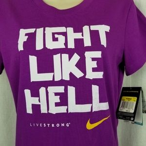 Nike Tops - Nike live strong womens workout tee shirt size S